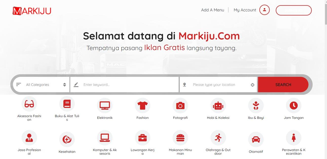 Cara pasang iklan gratis di markiju.com